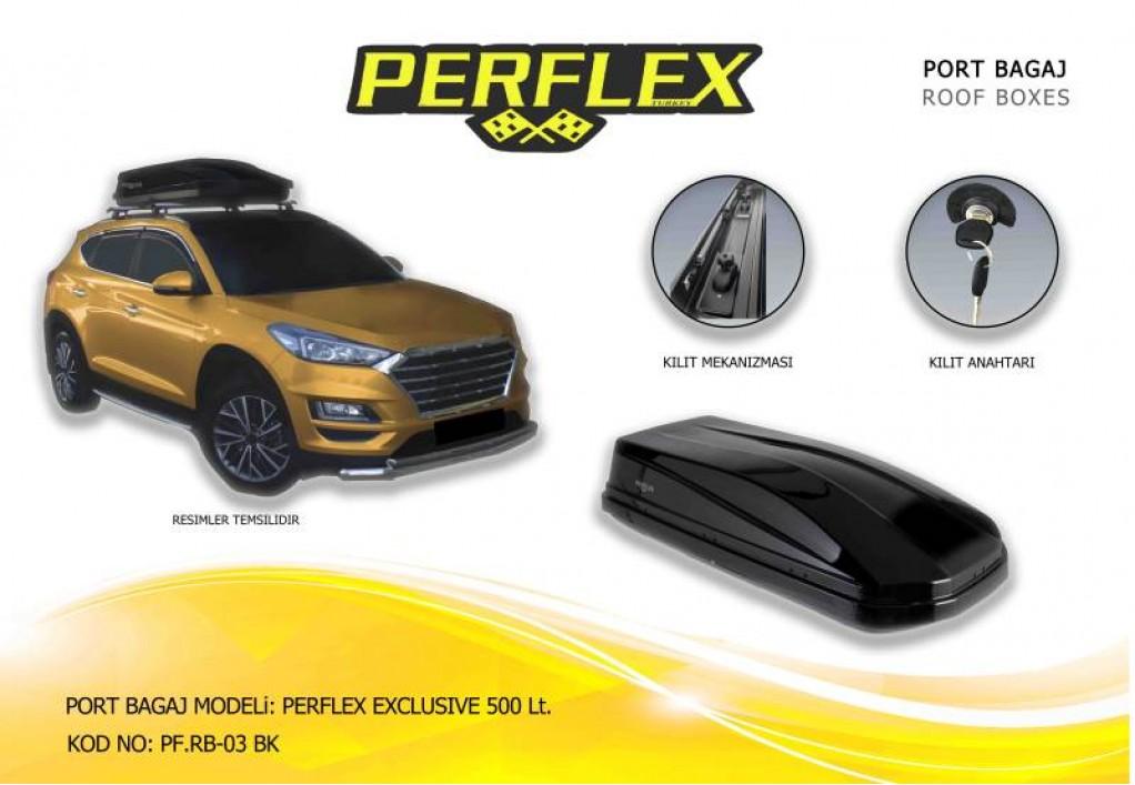 PERFLEX EXCLUSIVE BAGAJ SİYAH 500 LT